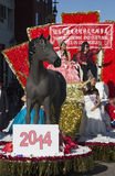 Chairperson K?ng Ch?ng-Ch�ng of Taipei, Taiwan, 115th Golden Dragon Parade, Chinese New Year, 2014, Year of the Horse, Los Angel Stock Photo