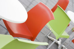Chairs_1. A photo of colored outdoor chairs Royalty Free Stock Photos