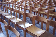 Chairs. Inside a Cathedral in the UK Stock Photography