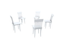 Chairs. Structure shown the relation with the help of chairs Royalty Free Stock Photography