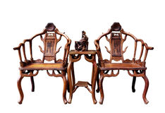 Chairs. Tables and chairs of Ancient china Royalty Free Stock Images