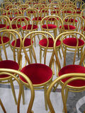 Chairs. Many empty chairs in a big room Stock Photography