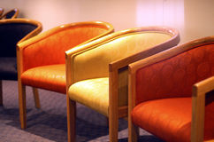 Chairs. Row of chairs in medical waiting room Stock Photography