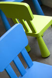 Chairs. For children in a school Royalty Free Stock Photography