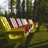 Chairs Adirondack Royalty Free Stock Image