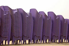 Chairs. Stack of Chairs Royalty Free Stock Images