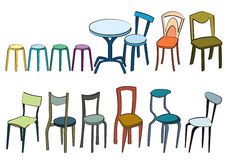 Chairs. Too many design of chairs Stock Images
