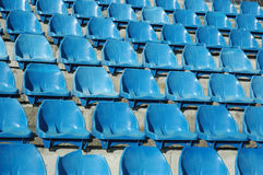 Chairs. On stadium Stock Photo