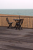 Chairs. Empty chairs at beach, autumn Royalty Free Stock Photo