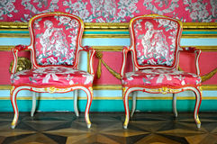 Chairs. The red chairs in mansion Stock Photo