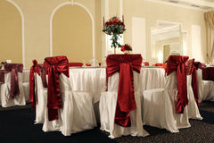Chairs. A large wedding ballroom for weddings Stock Photo