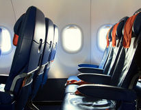 Chairs in the airplane Stock Image