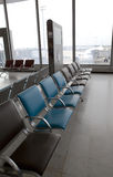 Chairs at the airport Stock Image