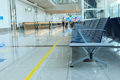 Chairs in airport boarding area Royalty Free Stock Photos