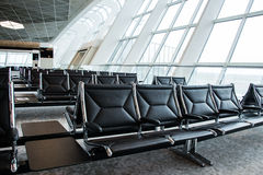 Chairs in the airport Royalty Free Stock Photo