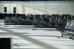 Chairs in the airport Stock Images
