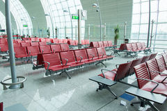 Chairs in the airport lounge area Royalty Free Stock Image