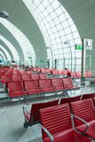 Chairs in the airport lounge area Stock Photography