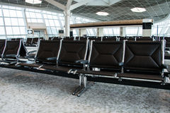 Chairs in the airport lounge area Royalty Free Stock Images
