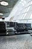 Chairs in the airport lounge area Stock Image