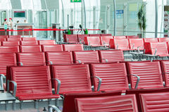 Chairs in the airport lounge area Royalty Free Stock Photos