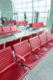 Chairs in the airport lounge area Royalty Free Stock Photography