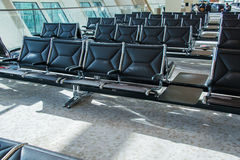 Chairs in the airport lounge area Stock Images