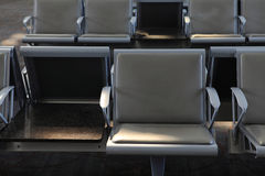 Chairs in the airport Royalty Free Stock Photos