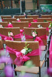 Chairs And Flowers Stock Photography
