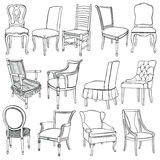 Chairs & armchairs Royalty Free Stock Images
