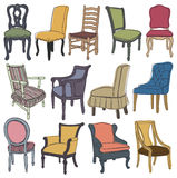 Chairs&armchairs set Obraz Stock