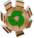 Recycling industry Royalty Free Stock Photo