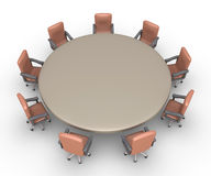 Chairs around a table ready for a meeting Stock Image