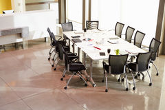 Chairs Arranged Around Empty Boardroom Table Royalty Free Stock Photography