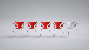 Chairs arranged for a meeting - 3D Rendering Stock Photography