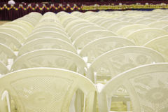 Chairs arranged in rows Stock Image