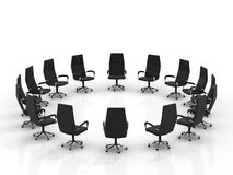 Chairs arranging round large group Stock Images