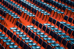 Chairs in an audience Stock Photos