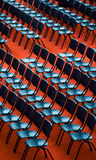Chairs in an audience Stock Photo