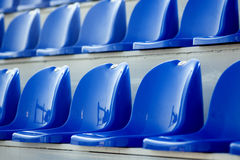 Chairs for the audience in the stadium Stock Photos