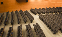 Chairs of an auditorium. Chairs of a modern auditorium Royalty Free Stock Photos