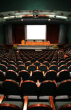 Chairs in auditorium Stock Image