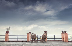 Chairs on the balcony Royalty Free Stock Image