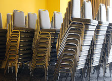 Chairs in banquette Stock Photo