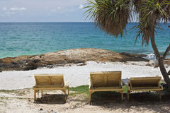 Chairs on the beach. Royalty Free Stock Photo