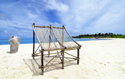 Chairs on the beach Stock Photography