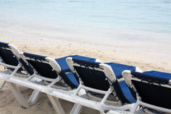 Chairs on the Beach. Montego Bay Jamaica Grand Palladium Lady Hamilton Resort royalty free stock image