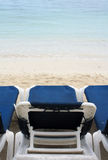 Chairs on the Beach. Montego Bay Jamaica Grand Palladium Lady Hamilton Resort royalty free stock images