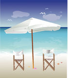 Chairs On The Beach Royalty Free Stock Photos