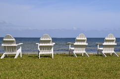 Chairs by the beach Stock Image
